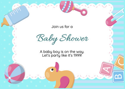 babyshower card 191 text mail