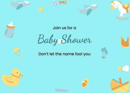 babyshower card 194 text bird