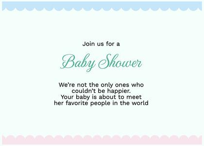 babyshower card 195 envelope text