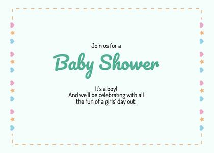 babyshower card 197 text business card