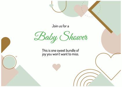 babyshower card 198 text advertisement