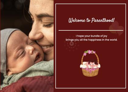 babyshower card 23 newborn person
