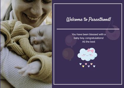 babyshower card 25 newborn baby