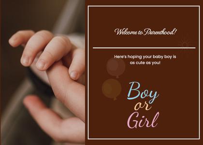 babyshower card 30 person human