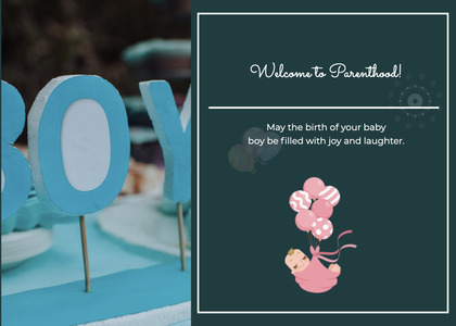 babyshower card 34 text temptag