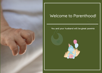 babyshower card 40 person human
