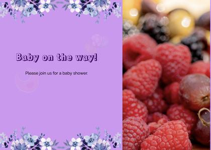 babyshower card 58 raspberry plant