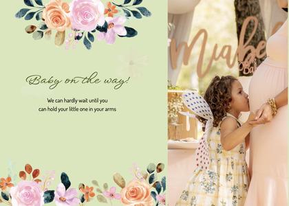 babyshower card 63 envelope mail