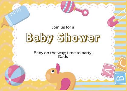 babyshower card 65 text food