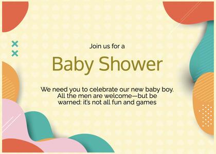 babyshower card 66 text paper