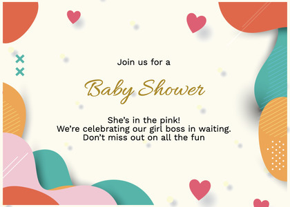 babyshower card 69 paper confetti