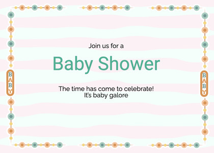 babyshower card 70 text page