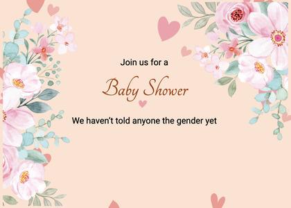 babyshower card 73 floraldesign graphics