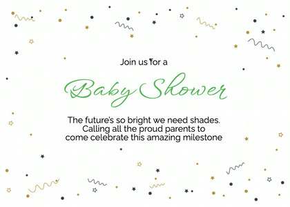 babyshower card 74 text paper