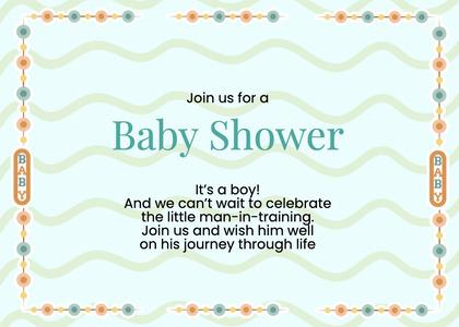 babyshower card 75 paper text