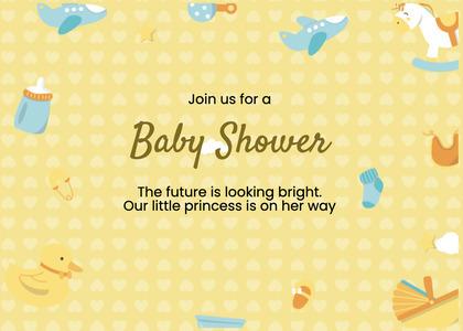 babyshower card 76 poster advertisement
