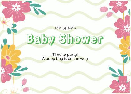 babyshower card 77 graphics art