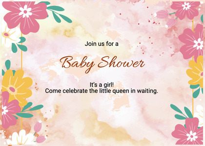 babyshower card 78 floraldesign graphics