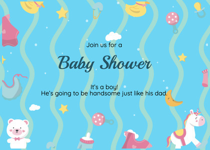 babyshower card 79 text paper