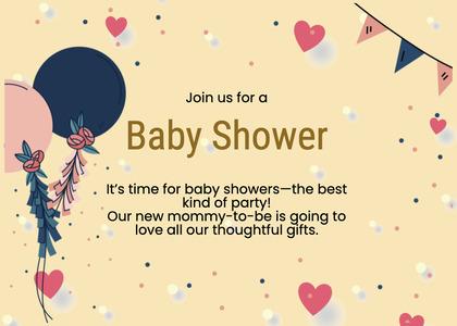 babyshower card 81 paper text