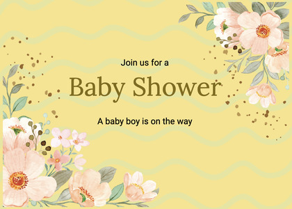 babyshower card 82 graphics art