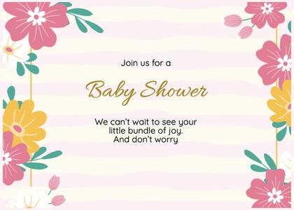 babyshower card 83 floraldesign graphics