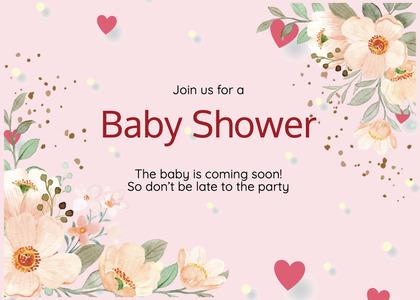 babyshower card 84 envelope mail