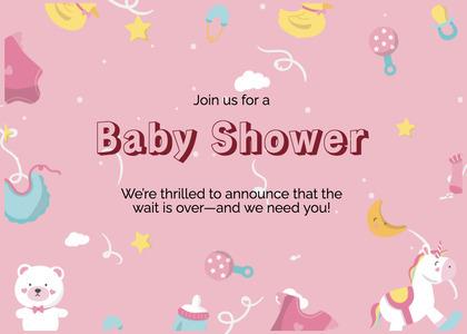 babyshower card 85 mail envelope