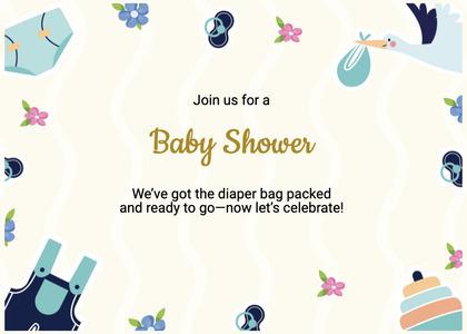 babyshower card 86 flyer brochure
