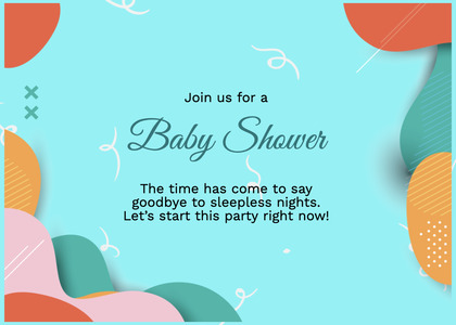 babyshower card 87 poster advertisement