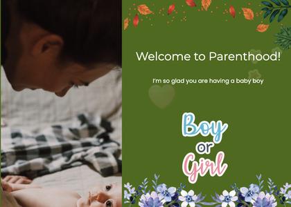 babyshower card 90 person advertisement