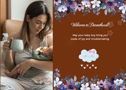 babyshower card 92 person envelope