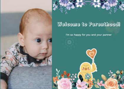 babyshower card 95 envelope mail