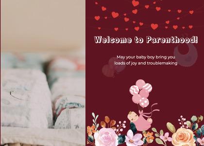 babyshower card 96 envelope mail