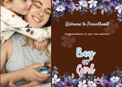 babyshower card 98 person envelope