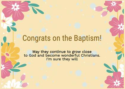 baptism card 100 floraldesign graphics