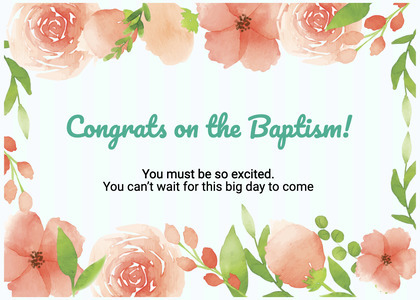 baptism card 103 cream creme