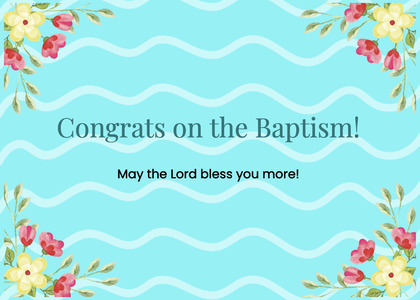 baptism card 105 graphics art