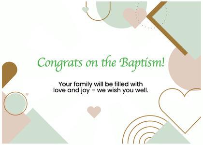 baptism card 106 text paper