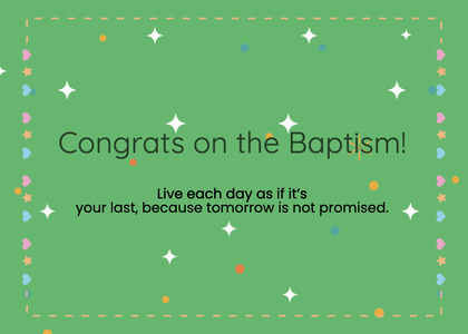 baptism card 109 grass plant