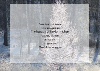 baptism card 11 nature outdoors