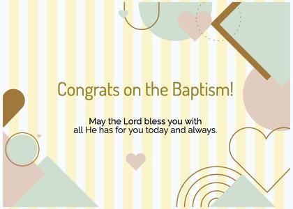 baptism card 110 poster advertisement
