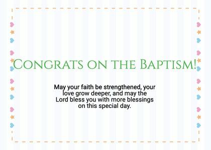 baptism card 111 text word