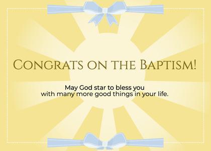 baptism card 112 poster advertisement