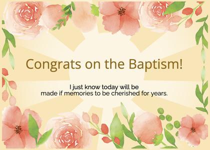 baptism card 113 cream creme