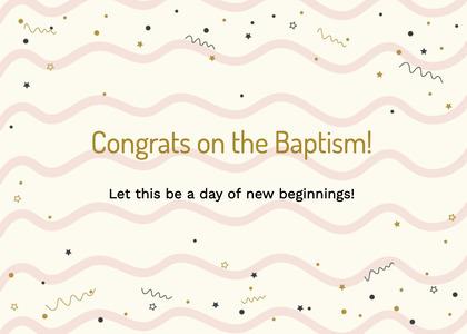baptism card 115 text paper