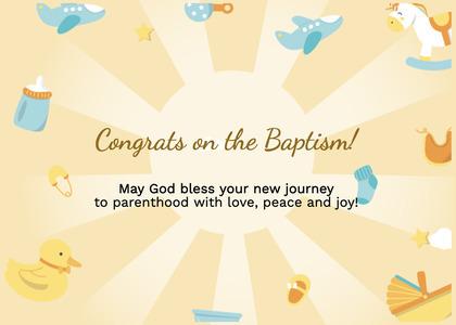 baptism card 118 plant text
