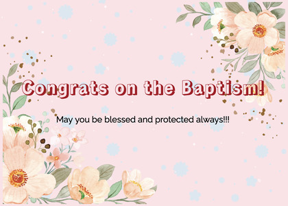baptism card 120 graphics art