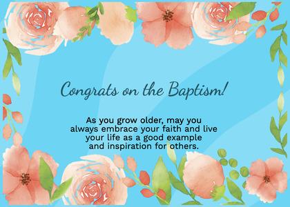 baptism card 124 flyer advertisement