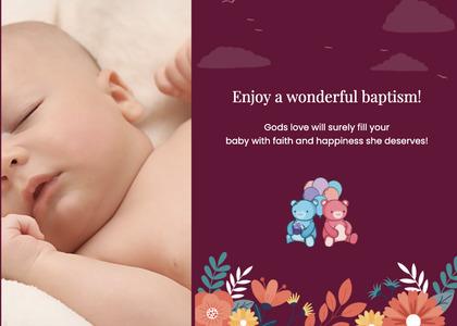 baptism card 128 newborn baby